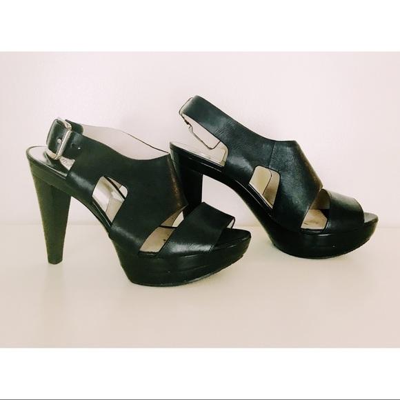 d555a747f03e Michael Kors Carla Vachetta Leather Platform Heels.  M 5c3b9ab7aa57194aa029aa3c